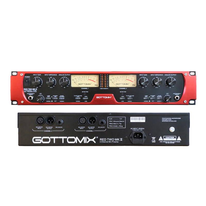 歌图Gottomix Redtwo MKII 话放双通道电子管专业话筒多路放大器